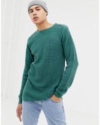 Мужской темно-бирюзовый свитер с круглым вырезом от D-struct