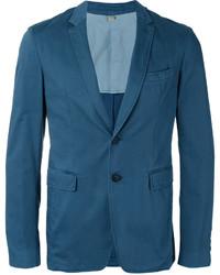 Мужской темно-бирюзовый хлопковый пиджак от Burberry