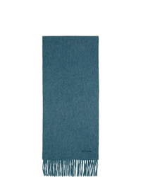Мужской темно-бирюзовый шарф от Paul Smith