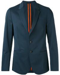 Мужской темно-бирюзовый шерстяной пиджак от Paul Smith