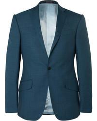 Мужской темно-бирюзовый шерстяной пиджак от Richard James