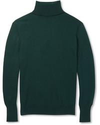 Мужская темно-зеленая водолазка