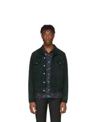 Мужская темно-зеленая замшевая куртка-рубашка от Paul Smith