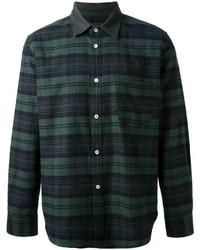 Мужская темно-зеленая классическая рубашка в шотландскую клетку от Golden Goose Deluxe Brand