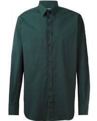 Темно-зеленая классическая рубашка