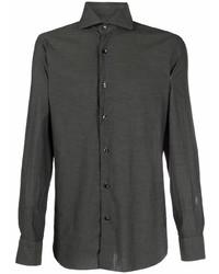 Мужская темно-зеленая классическая рубашка от Barba