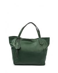 Женская темно-зеленая кожаная большая сумка от Moronero