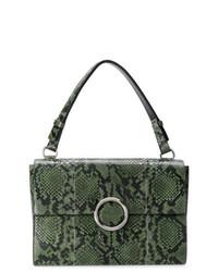 0335b9b3bbaf Купить женскую темно-зеленую кожаную сумку-саквояж - модные модели ...