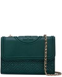 ae64d7698419 Купить темно-зеленую кожаную сумку через плечо Tory Burch - модные ...