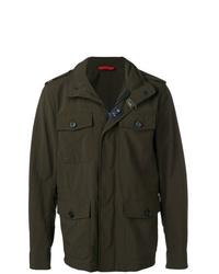 Мужская темно-зеленая куртка в стиле милитари от Fay