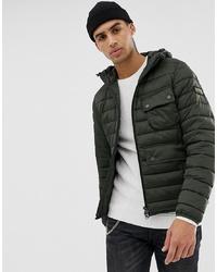 Мужская темно-зеленая куртка-пуховик от Barbour International