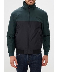 Мужская темно-зеленая куртка-пуховик от Fred Perry