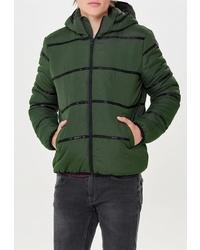Мужская темно-зеленая куртка-пуховик от ONLY & SONS