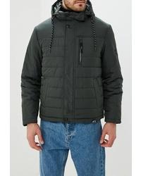 Мужская темно-зеленая куртка-пуховик от Tom Farr