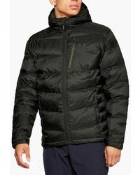 Мужская темно-зеленая куртка-пуховик от Under Armour