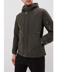 Мужская темно-зеленая куртка-пуховик от Winterra