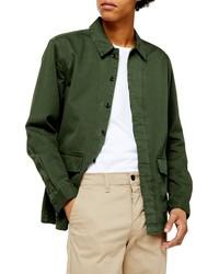 Темно-зеленая куртка-рубашка