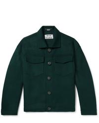 Мужская темно-зеленая куртка-рубашка от Acne Studios