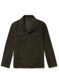 Мужская темно-зеленая куртка-рубашка от Altea