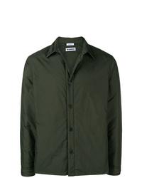 Мужская темно-зеленая куртка-рубашка от Jil Sander
