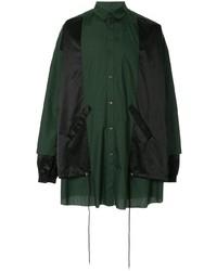 Мужская темно-зеленая куртка-рубашка от Kidill