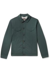 Мужская темно-зеленая куртка-рубашка от Loro Piana