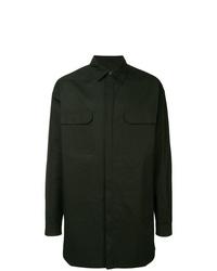 Мужская темно-зеленая куртка-рубашка от Rick Owens
