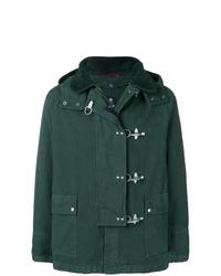 Темно-зеленая куртка с воротником и на пуговицах от Fay