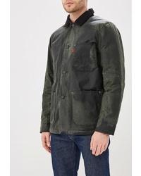 Темно-зеленая куртка с воротником и на пуговицах от Levi's