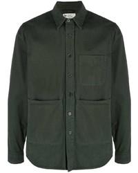 Мужская темно-зеленая рубашка с длинным рукавом от Aspesi
