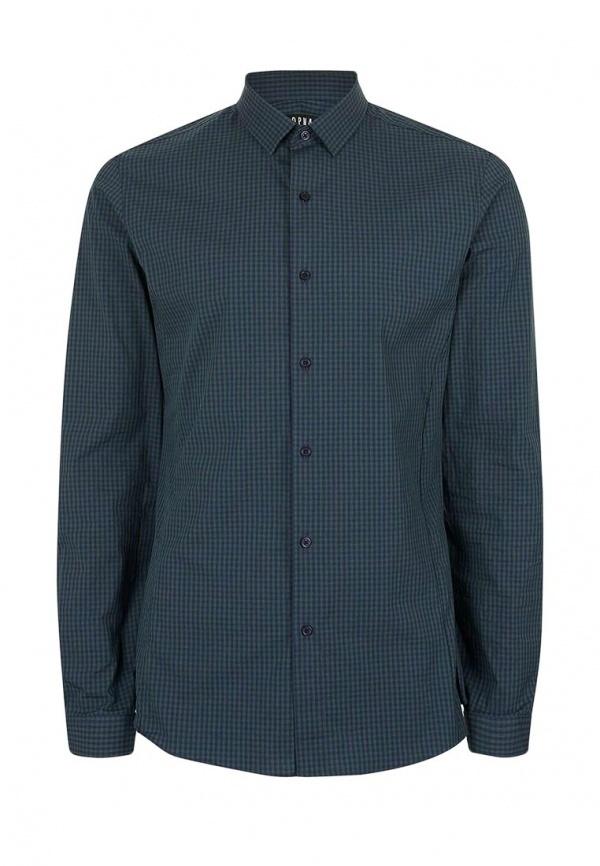 1ee908cfa74e Мужская темно-зеленая рубашка с длинным рукавом от Topman