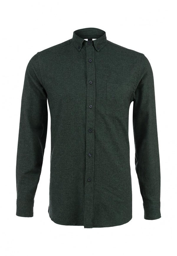 ed782e7b480e 1 950 руб., Мужская темно-зеленая рубашка с длинным рукавом от Topman