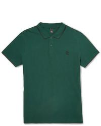 Темно-зеленая футболка-поло