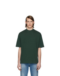 Мужская темно-зеленая футболка с круглым вырезом от Balenciaga