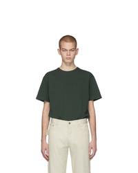 Мужская темно-зеленая футболка с круглым вырезом от Bottega Veneta