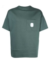 Мужская темно-зеленая футболка с круглым вырезом от Cerruti 1881