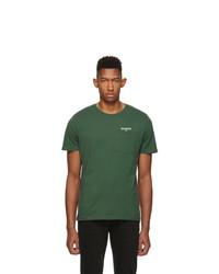 Мужская темно-зеленая футболка с круглым вырезом от Harmony