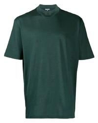 Мужская темно-зеленая футболка с круглым вырезом от Lanvin