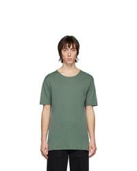Мужская темно-зеленая футболка с круглым вырезом от Lemaire