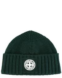 Детская темно-зеленая шапка для мальчику