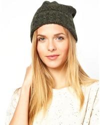 Женская темно-зеленая шапка от Selected