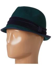 Темно-зеленая шерстяная шляпа
