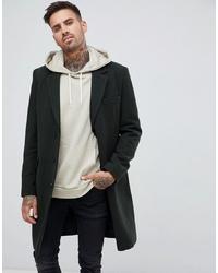 Темно-зеленое длинное пальто от ASOS DESIGN