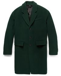 Мужское темно-зеленое длинное пальто от Burberry