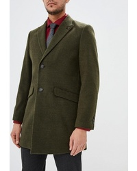 Темно-зеленое длинное пальто от Burton Menswear London