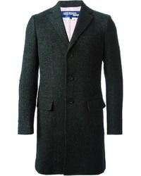 Темно-зеленое длинное пальто от Comme des Garcons