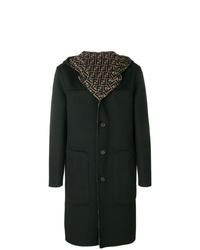 Темно-зеленое длинное пальто от Fendi