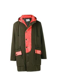 Темно-зеленое длинное пальто от Henrik Vibskov