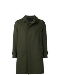 Темно-зеленое длинное пальто от Hevo