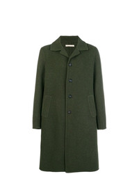 Темно-зеленое длинное пальто от Massimo Alba